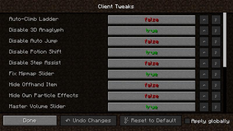 Client Tweaks Mod Screenshot 2