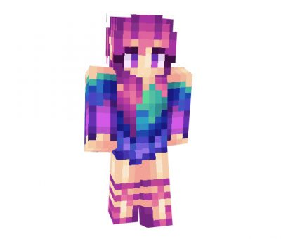 Colourful Girl Skin for Minecraft