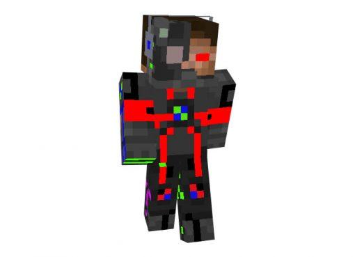Cyborg Herobrine | Robot Minecraft Skins