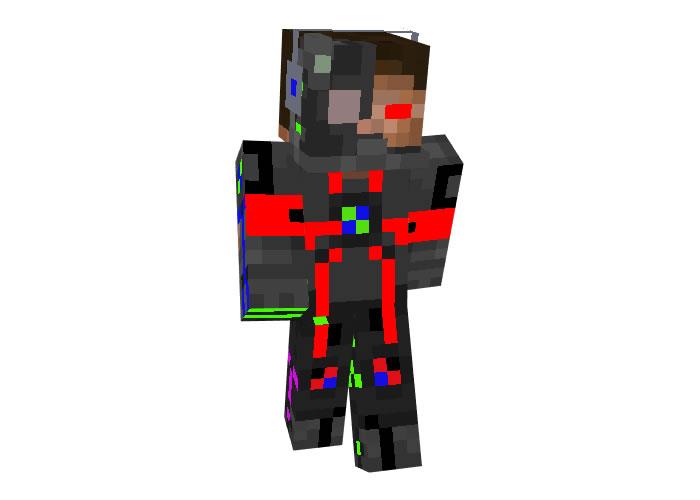 Cyborg Herobrine   Robot Minecraft Skins