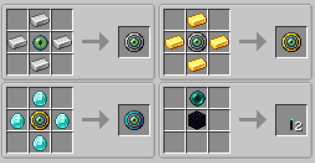 Ender Magnet Mod Crafting Recipes