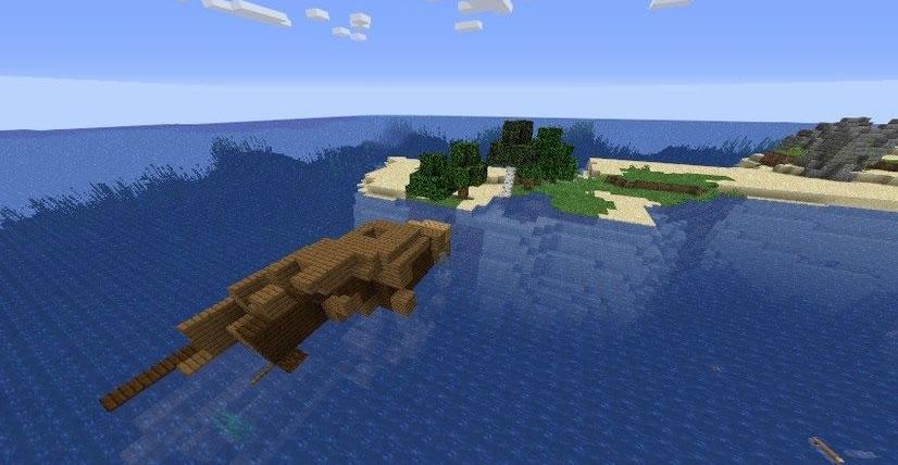 Little Island With Ruins Seed Screenshot