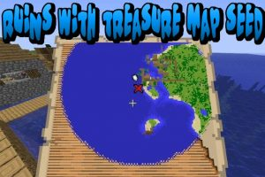 Ruins With Treasure Map Seed for Minecraft 1.15.2