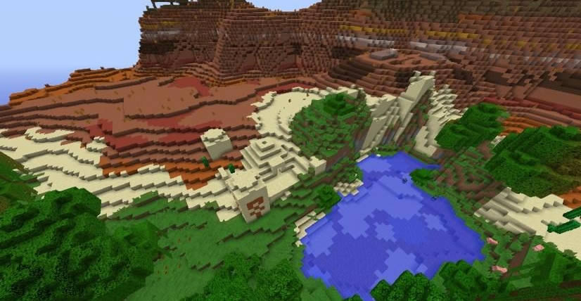 Three Biomes Temple Seed Screenshot