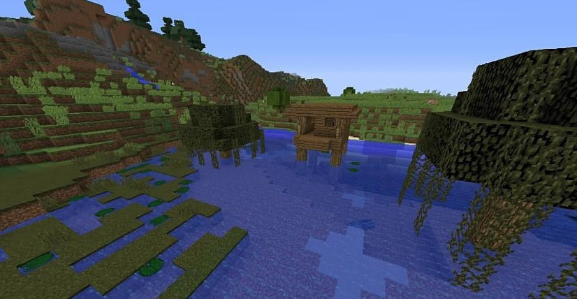 Witch's Hut and Village Seed for Minecraft 1.12.2