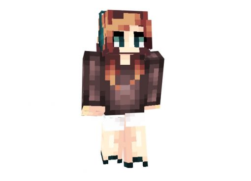 Headphone Girl Skin for Minecraft