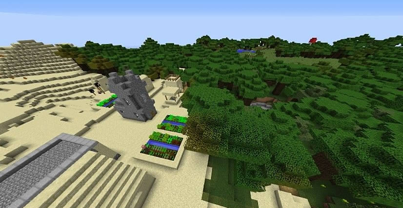 Interesting Villages Seed for Minecraft 1.12.2