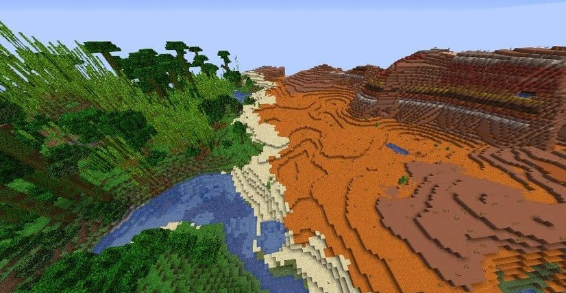 Jungle and Mesa Seed for Minecraft 1.15.2/1.14.4