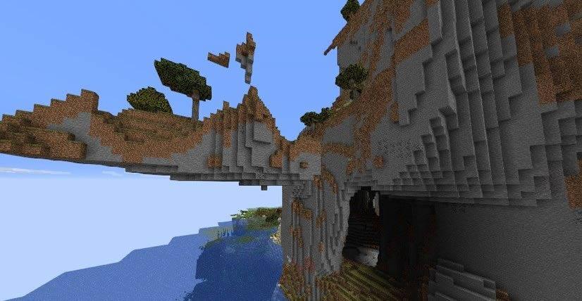 Nice Cave With Waterfalls Seed Screenshot