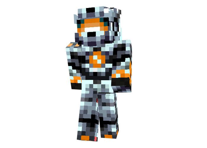 Orange Halo Skin for Minecraft