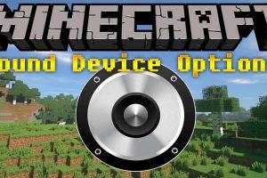 Sound Device Options Mod