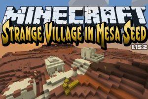 Strange Village in Mesa Seed for Minecraft 1.15.2/1.14.4