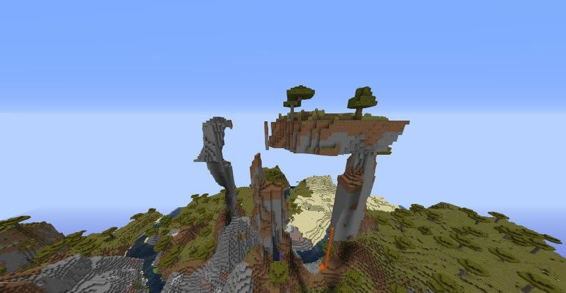 Unusual Mountains Seed 1.12.2 Screenshot