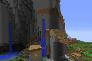 Waterfall Village Seed for Minecraft 1.12.2