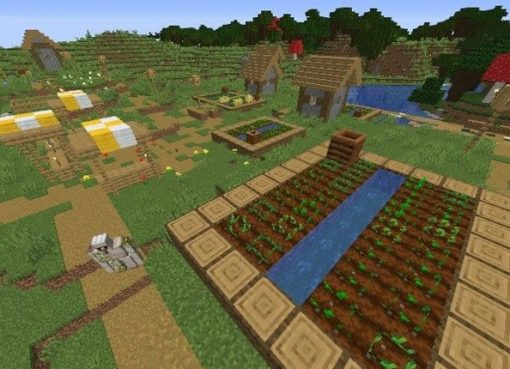 Big Farm Village Seed for Minecraft 1.15.2/1.14.4