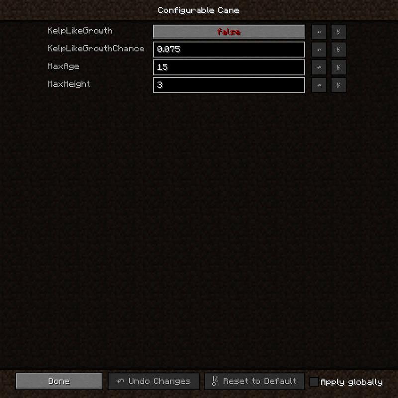 Configurable Cane Mod Screenshot 5