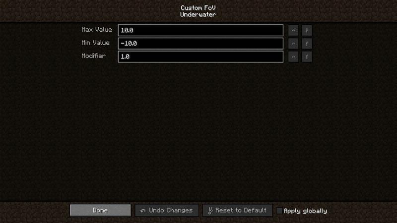 Custom FoV Mod Screenshot