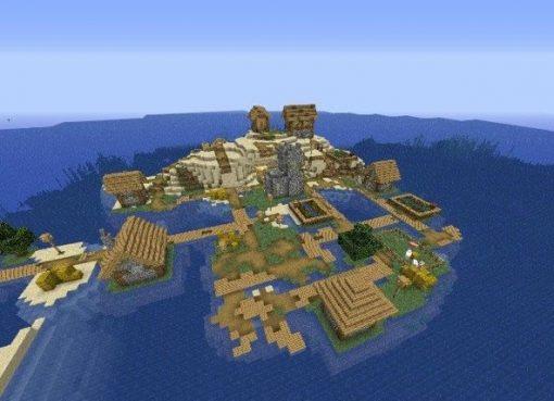 Island Village With Spawner Seed for Minecraft 1.15.2