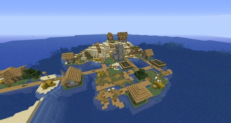 Island Village With Spawner Seed for Minecraft 1.15.2