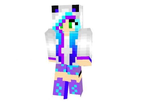 Turquoise Panda Girl 2 | Minecraft Skins