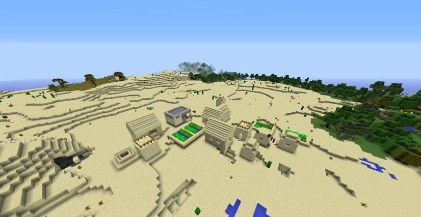 Village With Toolsmith House Near Mushroom Forest Seed Screenshot 2