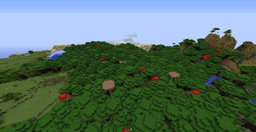Village With Toolsmith House Near Mushroom Forest Seed Screenshot