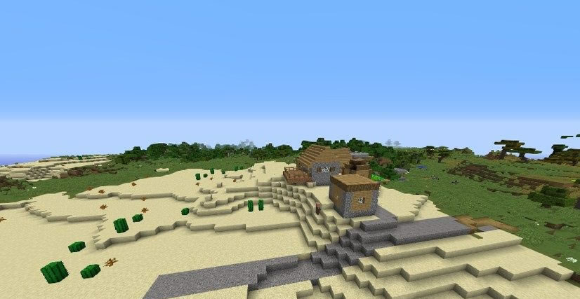 Village With Toolsmith House Near Mushroom Forest Seed