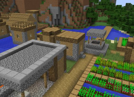 Village with a Great Loot Minecraft Seed