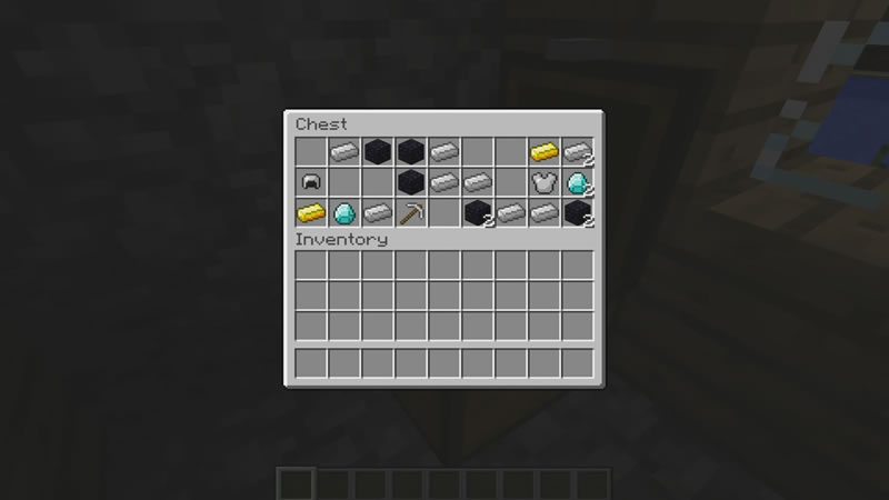 Village with a Great Loot Minecraft Seed Screenshot