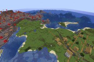Mushroom Island and Village Seed for Minecraft 1.15.2/1.14.4