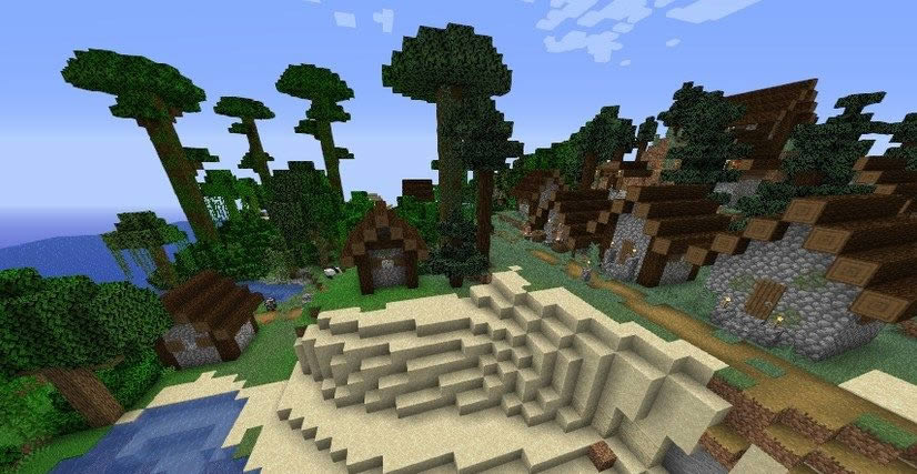 Small Island With Two Villages Seed Screenshot 2