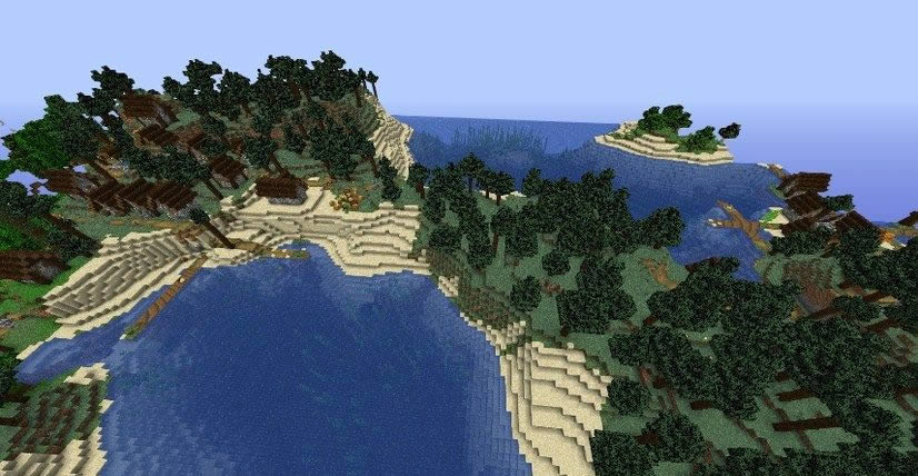Small Island With Two Villages Seed for Minecraft 1.15.2/1.14.4