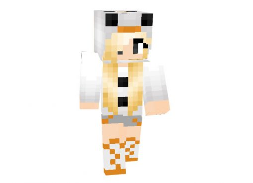 Snowman Girl Skin for Minecraft