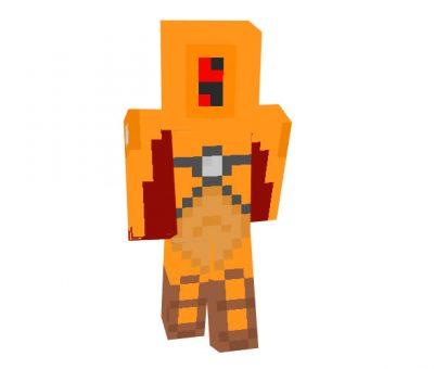 Tau Fire Warrior Minecraft Robot Skin