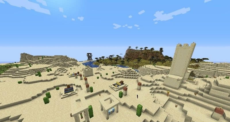 Two Villages and Jungle Temple Seed Screenshot