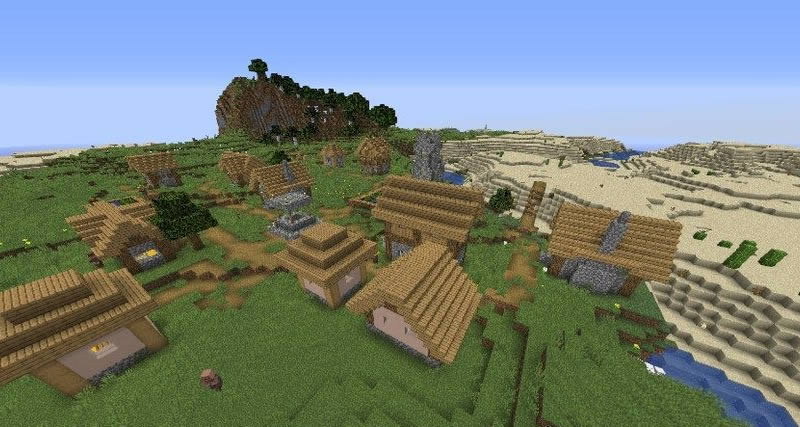 Two Villages and Jungle Temple Seed