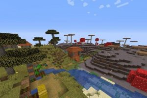 Two Villages and Mushroom Biome Seed 1.15.2/1.14.4