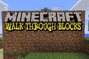 Walk Through Blocks Mod