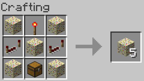 Waterfree Farming Mod Sand Controller Crafting Recipe