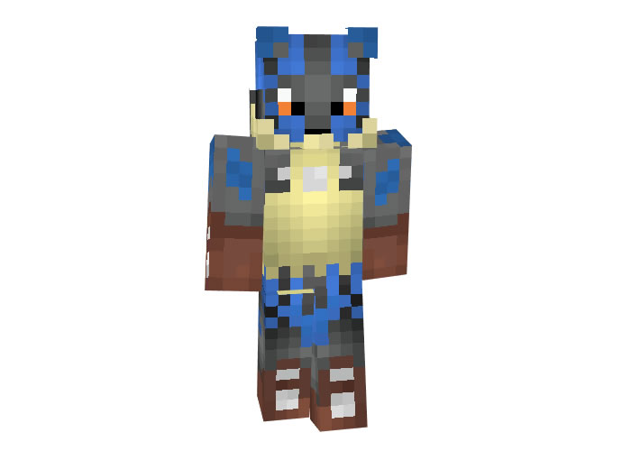 Mega Lucario | Minecraft Animal Skins