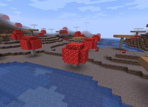 Mushroom Island with Mineshafts Seed