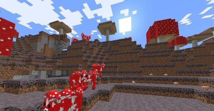 Mushroom Island with Mineshafts Seed Screenshot 2