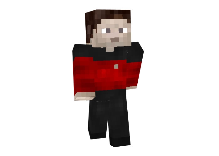 Star Trek Red Uniform Skin for Minecraft
