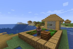 Village and Shipwreck on the Island Seed for Minecraft
