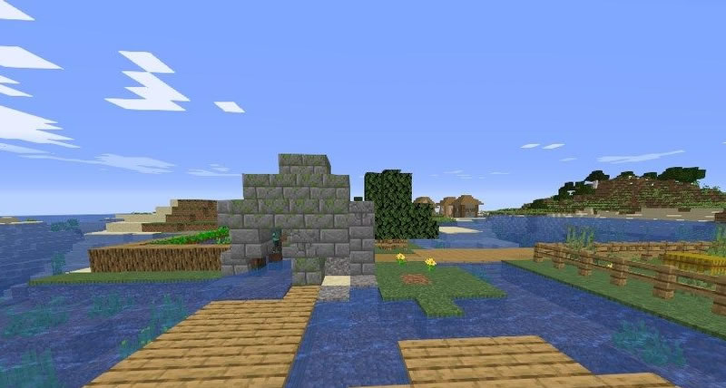 Village and Shipwreck on the Island Seed Screenshot