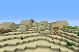 Village and Temple at Spawn Seed
