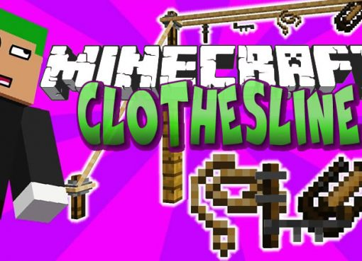 Clothesline Mod for Minecraft