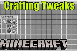 Crafting Tweaks Mod for Minecraft