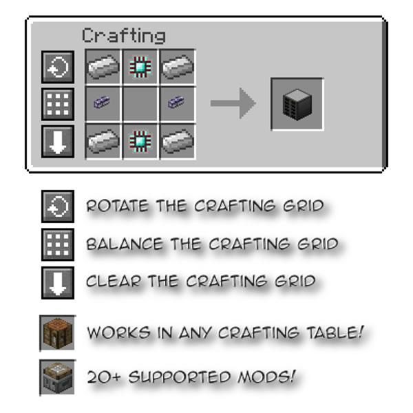 Crafting Tweaks Mod Screenshot