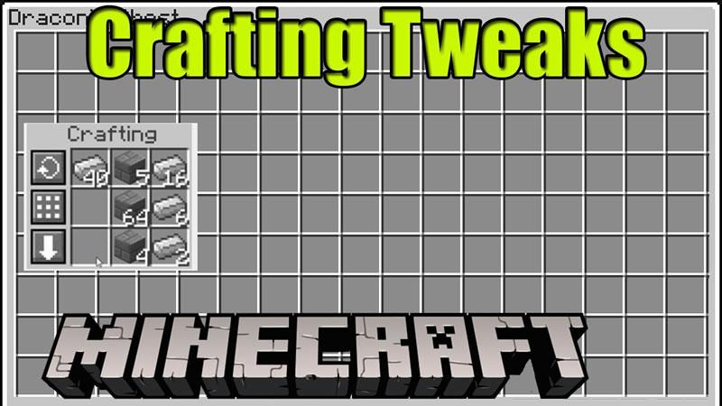 Crafting Tweaks Mod for Minecraft